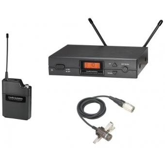 Sistem wireless cu beltpack si lavaliera Audio-technica ATW-2110B/P