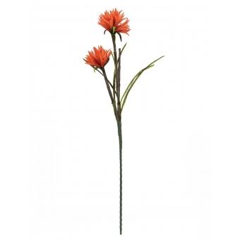 EUROPALMS Dahlia (EVA), artificial plant, orange, 100cm