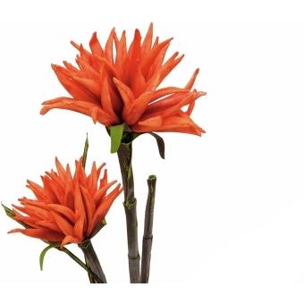 EUROPALMS Dahlia (EVA), artificial plant, orange, 100cm #2