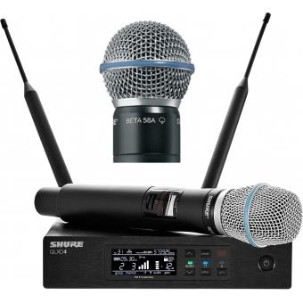 Sistem microfon wireless Shure QLXD24/Beta87C + bonus capsula Beta58