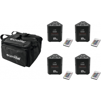 EUROLITE Set 4x AKKU TL-3 QuickDMX + Soft-Bag #1