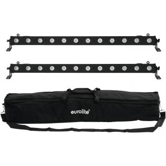 EUROLITE Set 2x LED BAR-12 QCL RGBW + Soft Bag
