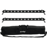EUROLITE Set 2x LED BAR-12 QCL RGBW + Soft Bag