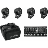 EUROLITE Set 4x LED PS-4 HCL + Soft Bag + Controller