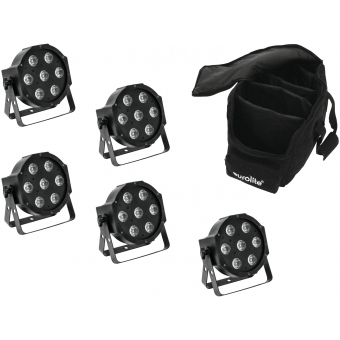 EUROLITE Set 5x LED SLS-7 HCL Spot + Soft Bag #1