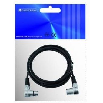 OMNITRONIC XLR cable 3pin 3m 90° bk #2