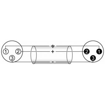 OMNITRONIC XLR cable 3pin 3m 90° bk #3