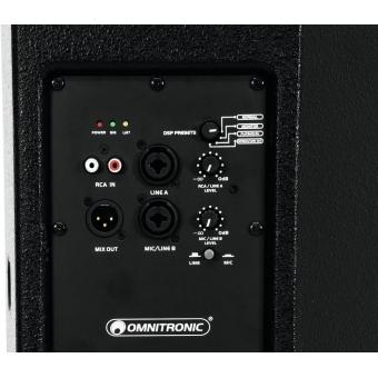 OMNITRONIC PAS-212+A 2-Way Top, active, DSP #4