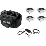 EUROLITE Set 4x AKKU Flat Light 1 silver + Soft-Bag + Charger