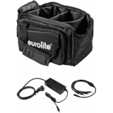 EUROLITE Set SB-14 Soft-Bag + Charger 4x AKKU Flat Light 1