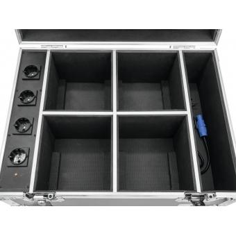 ROADINGER Flightcase 4x AKKU UP-4 QuickDMX with charging functio #6