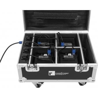 ROADINGER Flightcase 4x AKKU UP-4 QuickDMX with charging functio #8