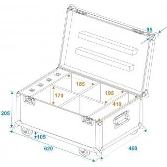 ROADINGER Flightcase 4x AKKU UP-4 QuickDMX with charging functio #9