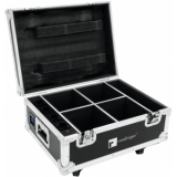 ROADINGER Flightcase 4x AKKU UP-4 QuickDMX with charging functio