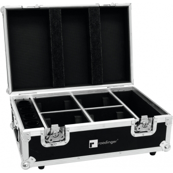 ROADINGER Flightcase 4x AKKU TL-3 Trusslight QuickDMX with charg
