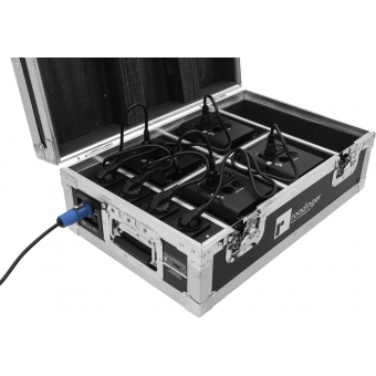 ROADINGER Flightcase 4x AKKU TL-3 Trusslight QuickDMX with charg #7