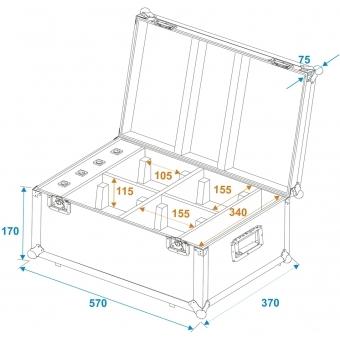 ROADINGER Flightcase 4x AKKU TL-3 Trusslight QuickDMX with charg #9
