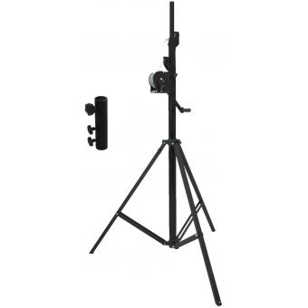 EUROLITE Set STT-400/85 Winch stand TÜV/GS black + STV-3529 Adap