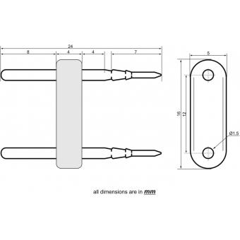 EUROLITE LED Neon Flex 230V Slim Power Contact Pin #2