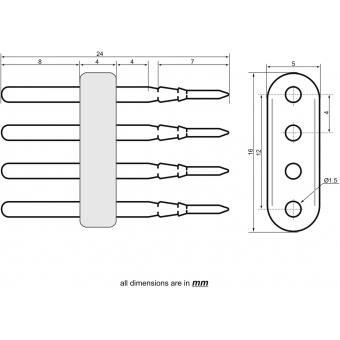 EUROLITE LED Neon Flex 230V Slim RGB Power Contact Pin #3