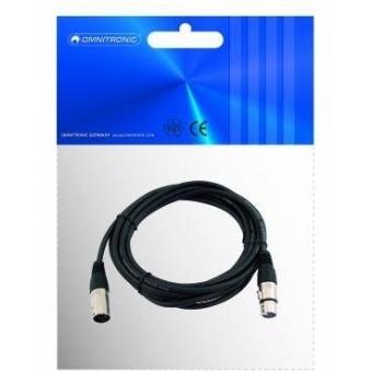 OMNITRONIC XLR cable 5pin bk 5m #2