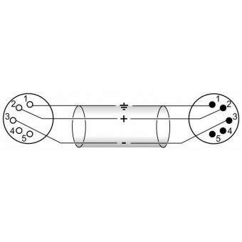 OMNITRONIC XLR cable 5pin bk 5m #3