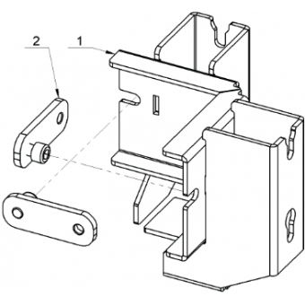 ALUTRUSS BE-1V3E connection clamp for BE-1G3 #3