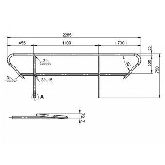 ALUTRUSS BE-1T handrail for BE-1T #2