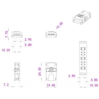 EUROLITE LED Strip Power Contact 3Pin 10mm #4