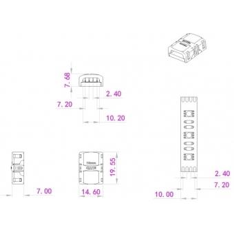 EUROLITE LED Strip Connector 4Pin 10mm #3
