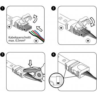 EUROLITE LED Strip Power Contact 4Pin 10mm #3