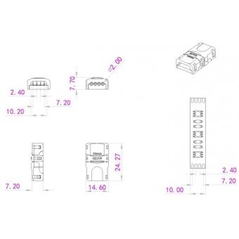 EUROLITE LED Strip Power Contact 4Pin 10mm #4