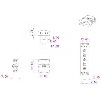 EUROLITE LED Strip Connector 5Pin 12mm #3