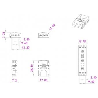 EUROLITE LED Strip flexible Connector 5Pin 12mm #4