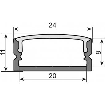 EUROLITE U-profile 20mm for LED Strip silver 2m #2