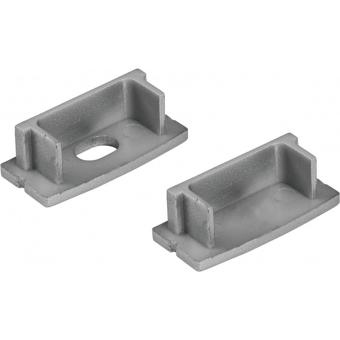 EUROLITE End Caps for U-Profil 20mm silver