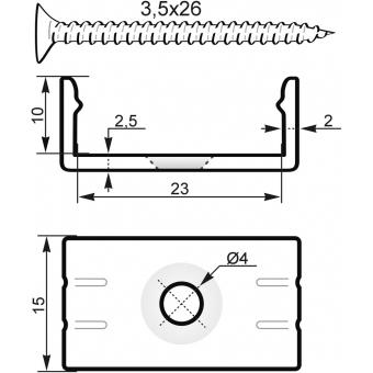 EUROLITE Mounting Bracket for U-Profil 20mm  Plastic #2