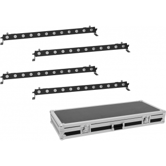 EUROLITE Set 4x LED BAR-12 QCL RGBA Bar + Case