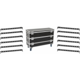 EUROLITE Set 12x LED BAR-12 QCL RGBW Bar + Case L