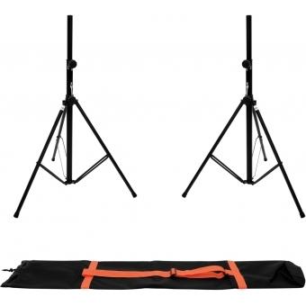 OMNITRONIC Set 2x BS-2 EU Loudspeaker Stand + Carrying bag
