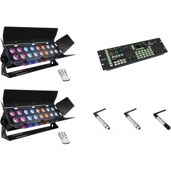 EUROLITE Set 2x Stage Panel 16 + Color Chief + QuickDMX transmit