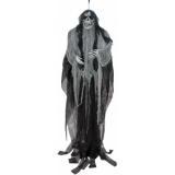 EUROPALMS Halloween Figure Old Woman, Glow in the Dark, 210cm