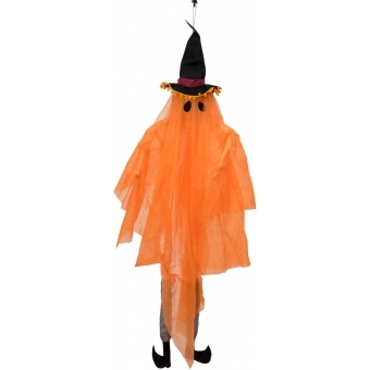EUROPALMS Halloween Figure Ghost with Witch Hat, 150cm