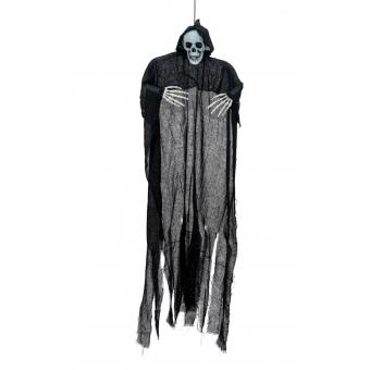 EUROPALMS Halloween Figure Black Skeleton, Glow in the Dark, 130