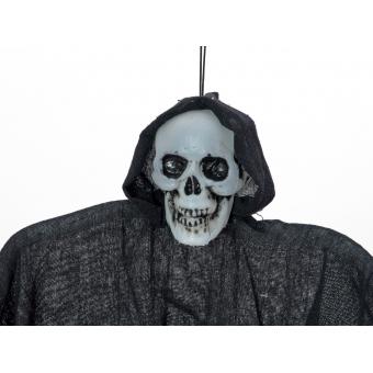 EUROPALMS Halloween Figure Black Skeleton, Glow in the Dark, 130 #2