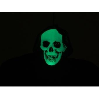 EUROPALMS Halloween Figure Black Skeleton, Glow in the Dark, 130 #3