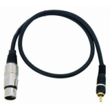 OMNITRONIC Adaptercable RCA/XLR(F) 0.6m bk