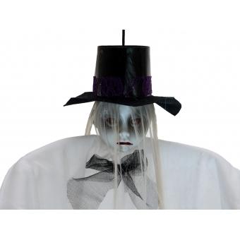 EUROPALMS Halloween Figure Woman with Hat, 70cm #2