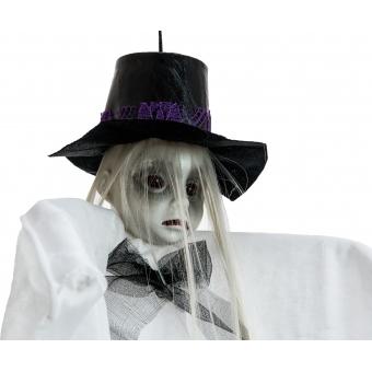 EUROPALMS Halloween Figure Woman with Hat, 70cm #3