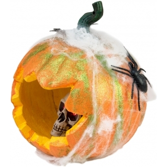 EUROPALMS Halloween Pumpkin in Spider Web, 25cm #2